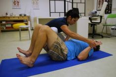 Cvičení pro těhotné - fotka před